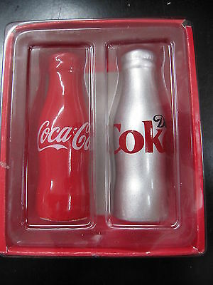 Coca-Cola Ceramic Salt & Pepper Shakers - NIB  CC-6