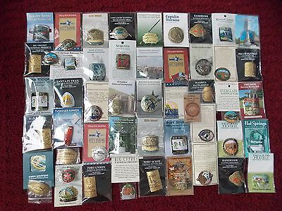 50 NATIONAL PARKS HIKING MEDALLIONS  MOST NEW on CARDS -FROM PERSONAL COLLECTION