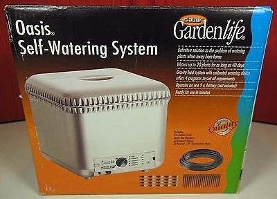 Claber Oasis Plants Garden Automatic Drip Watering System 4-Programs/20 Plants