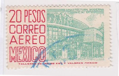 (MCO-343) 1950 Mexico 20p green & red (D)