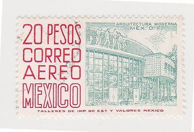 (MCO-342) 1950 Mexico 20p green & red (C)