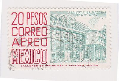 (MCO-341) 1950 Mexico 20p green & red (B)
