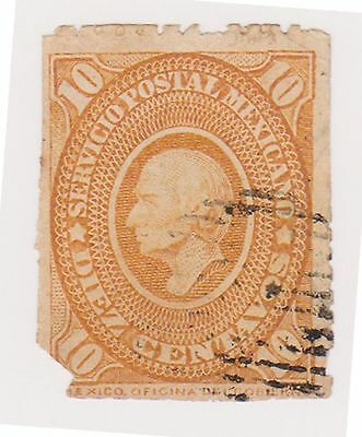 (MCO-33) 1884 Mexico 10c orange HILDARGO (space filler)