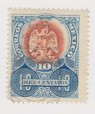 (MCO-93) 1899 Mexico 10c blue & brown