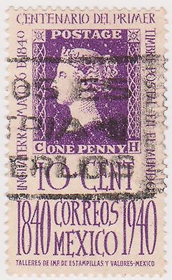(MCO-259) 1940 Mexico 10c purple first stamp (C)