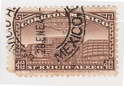 (MCO-203) 1934 Mexico 10c brown temple (B) (space filler)