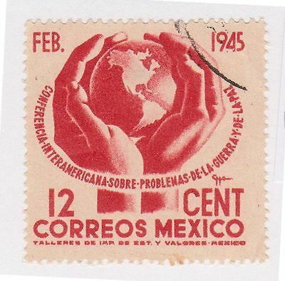 (MCO-267) 1945 Mexico 12c red inter-American (B)