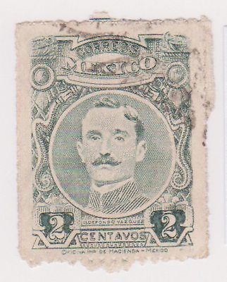 (MCO-136) 1917 Mexico 2c green VAZQUES