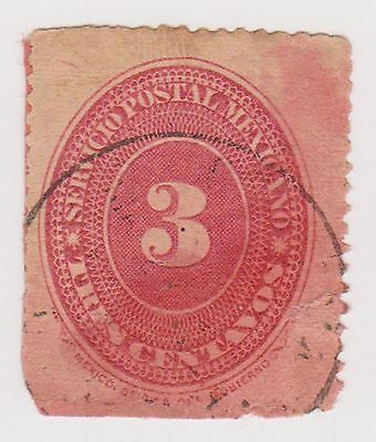 (MCO-39) 1886 Mexico 3c red