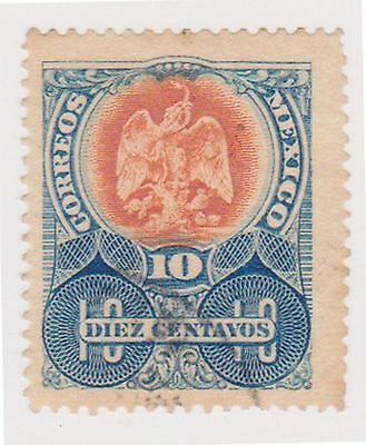 (MCO-133) 1910 Mexico 10c blue& orange (C)