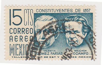 (MCO-363) 1956 Mexico 15c blue air (B)
