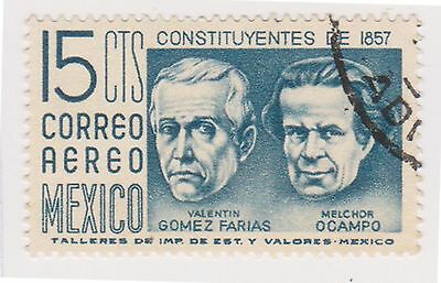 (MCO-362) 1956 Mexico 15c blue air (A)