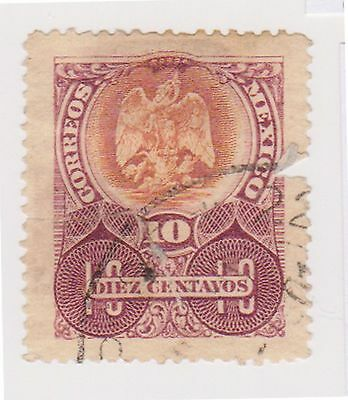 (MCO-131) 1910 Mexico 10c brown& purple (A)