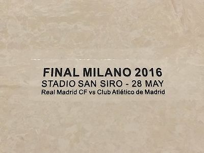 2016 Champion Real Madrid VS Atletico Madrid Final Milano Match Font Patch Badge