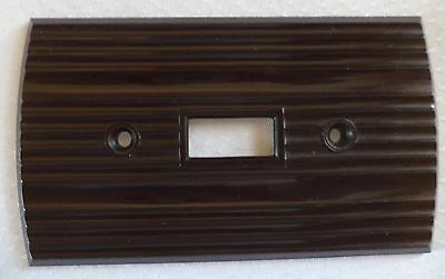 Vintage Rogers Ribbed Rounded Brown Bakelite Wall Switch Plate Cover Art Deco
