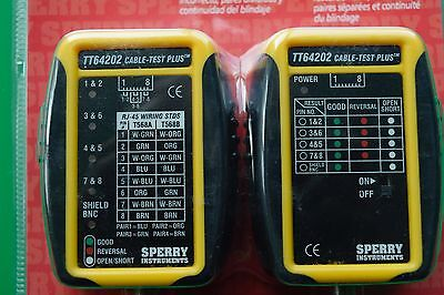 Coax and CAT3-6 cable tester - *NEW* by Sperry Instruments
