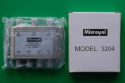 Microroyal Multi-switch 3 in 4 out Multiswitch -*NEW - 40-2200 MHz for satellite