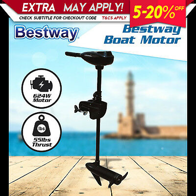 Bestway 55LBS Outboard Trolling Motor 12V Electric Engine for Inflatable Boat