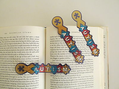 96 AUTISM AWARENESS BOOKMARKS puzzle piece April bookmark party FUNDRAISER