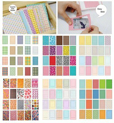 100PCS Retro Color Instant Films Sticker For FujiFilm Instax Mini 8 7s 25 50s US