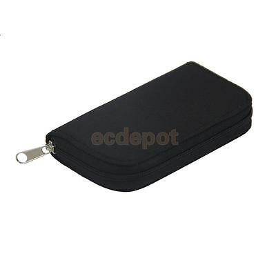 Black 22 Slots SD/CF Micro Memory Card Pouch Case Holder Wallet Waterproof