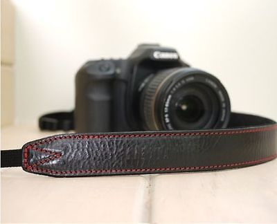CIESTA Leather Strap CSS-L30 [Black/Red]Shoulder Neck D-SLR RF Mirrorless Camera