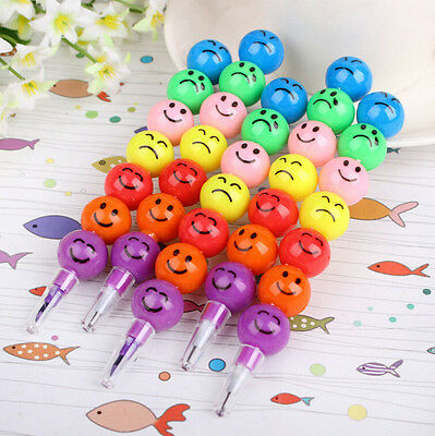 Face Crayons Smile Stacker Cute New Children Swap 7 Colors Drawing Gift 2016