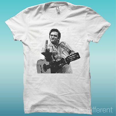 """T-Shirt /"""" Johnny Cash /"""" Weiß The Happiness Is Have My T-Shirt Neu"""