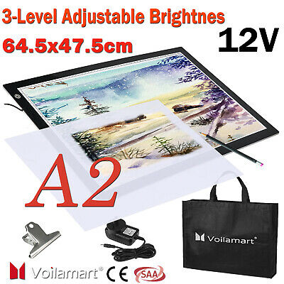 A2 LED Tracing Light Box Stencil Drawing Board Pattern Art Design Lightbox Pad