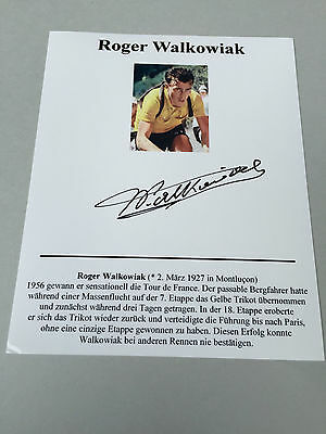 ROGER WALKOWIAK   TOUR DE FRANCE winner 1956 signed  Photo 10x14