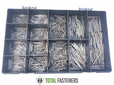 Assorted Metric A2 Stainless Steel Split Pins / Cotter Pins 500 Pcs - Kit SCP4
