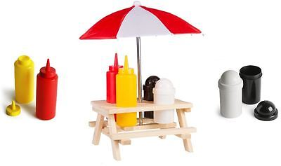 Condiment Holder Picnic Table Sunshade Salt Pepper Bottle Decor Party Summer BBQ