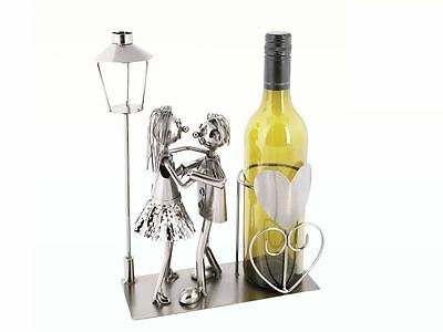 Metal Bottle Holder Couple Lovers Dancing Table Party Decor Stand Novelty Gift