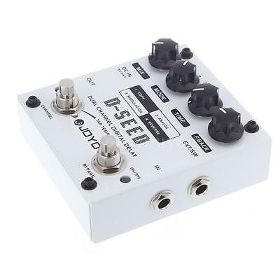 JOYO D-SEED Dual Channel Digital Delay Guitar Effect Pedal with 4 Modes