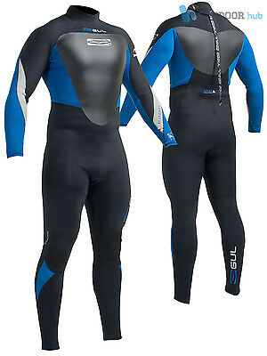 Gul Response Mens 4/3mm Blindstitch Steamer Full Wetsuit Surf Dive 3 Season Cold