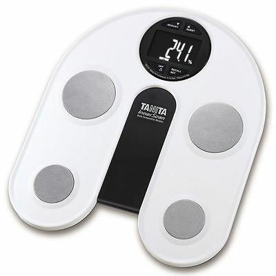 Body Fat Monitor/Scale with White Backlit LCD Display
