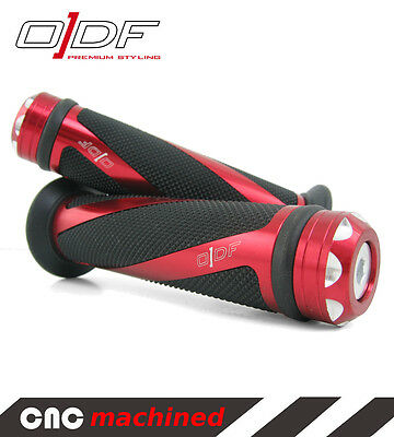 """Hand Handle Bar Grips Benelli 491, GT, RR, Sport, ST, K2, Pepe """"Coil"""" red"""