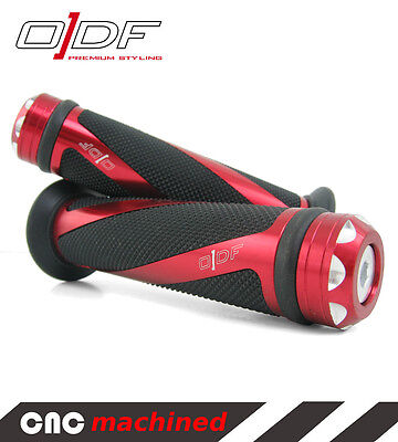 """Hand Handle Bar Grips WT Motors / Xinling / Xintian(Kinroad) """"Coil"""" red"""