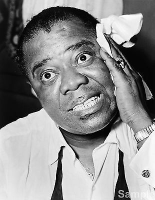 Louis Armstrong Jazz Trumpet Player Picture Music Photo Print Art Poster A4