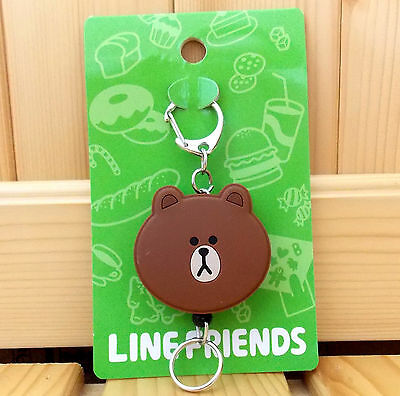 Official Line Friends  Brown  Cute Retractable Key Chain - Brown Color
