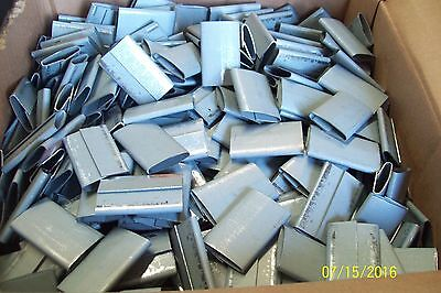 """*BOX OF 1000* 1-1/4"""" HEAVY DUTY CLOSED PUSHER SEAL for STEEL STRAPPING 8SG1250P"""