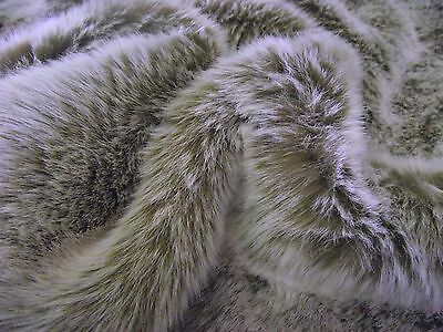 Super Luxury Faux Fur Fabric Material - LIGHT BROWN FROST