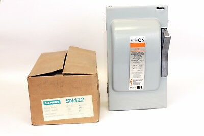 Siemens SN422  60 Amp, 240V, 4 Wire, Fusible Switch