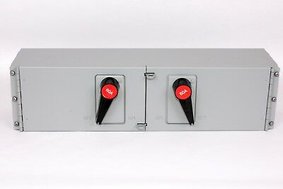 FPE QMQB6636  Twin Fusible Switch, 60A/60A, 600V, J Fuse