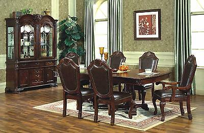Mcferran RD5004 Dining Room Table Cherry Furnishings Traditional Style
