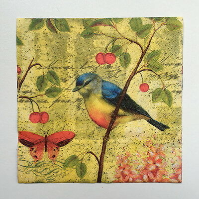 20pcs 33*33cm Bird Paper Napkins,100% Virgin Wood Napkin