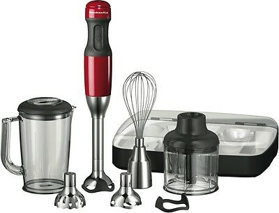 NEW KitchenAid 5KHB2569AER Artisan Deluxe Hand Blender - Empire Red