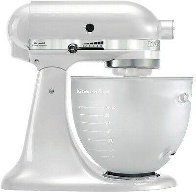NEW KitchenAid 5KSM156AFP Platinum Stand Mixer Frosted Pearl
