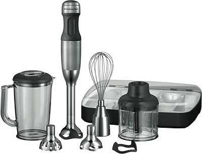 NEW KitchenAid 5KHB2569ASX Artisan Deluxe Hand Blender - Stainless Steel