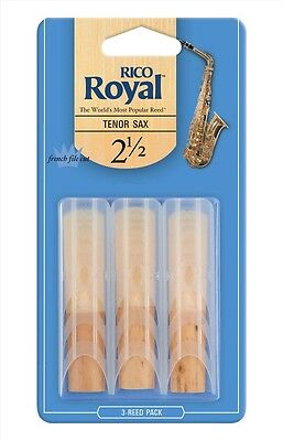 Rico Royal Tenor Sax Saxophone Reeds #2.5 strength (3-pack) rkb0325